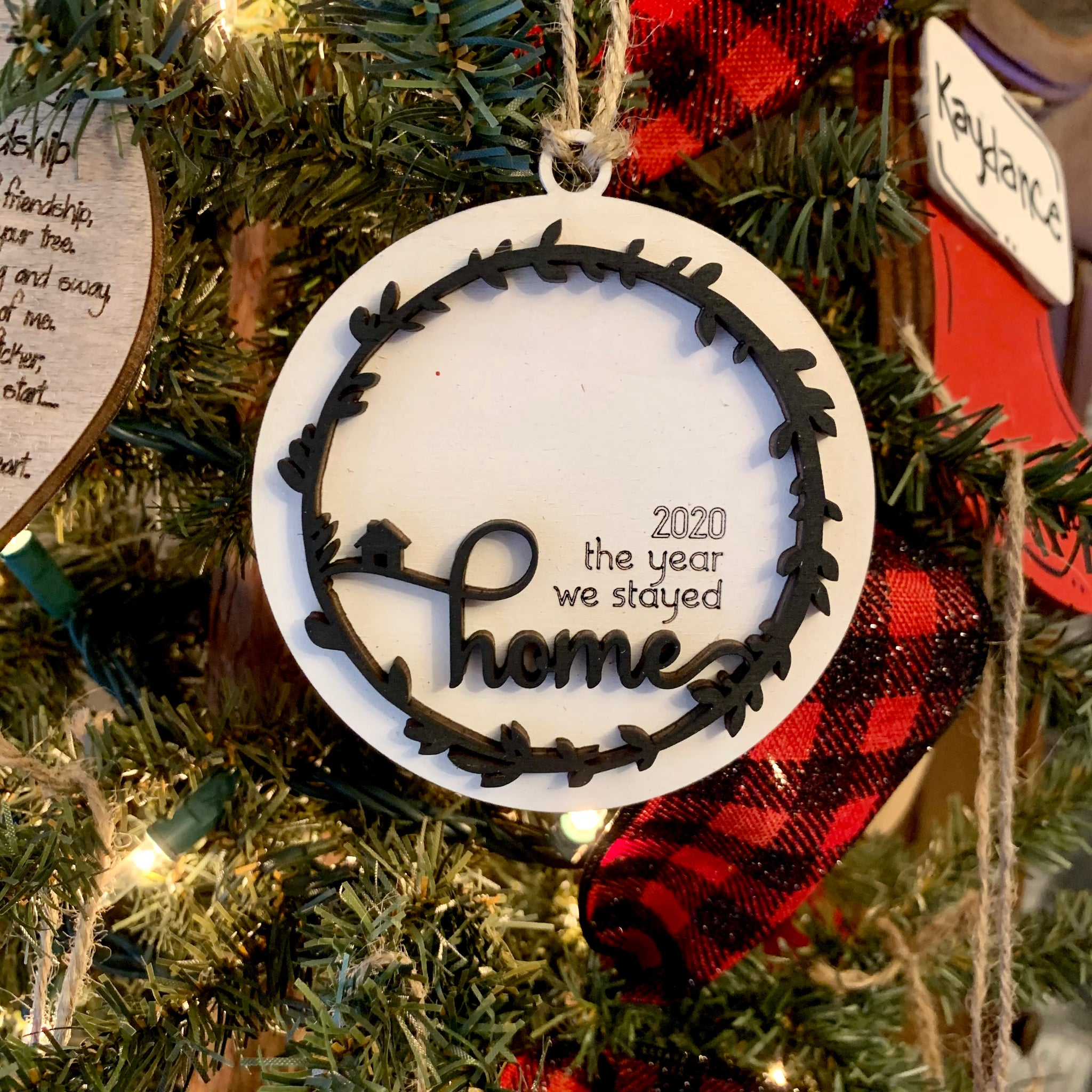 2020 the year we stayed home Ornament