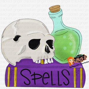 Spells skull and potion
