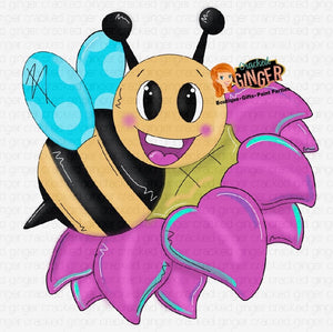 Bee and Flower Spring Cutout and Kits