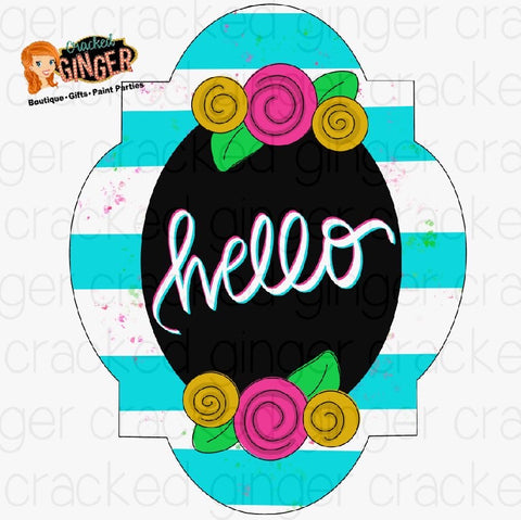 Hello Flowers Frame Cutout and Kits