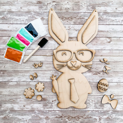 Build a Bunny Easter Wooden paint kits
