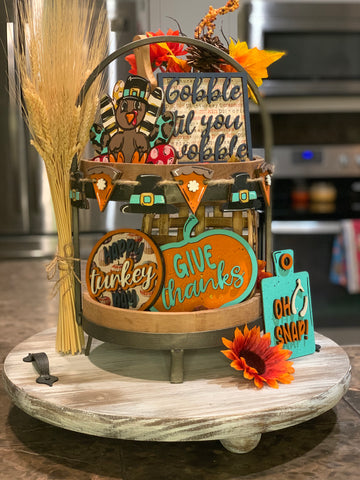 Thanksgiving Themed Tiered Tray