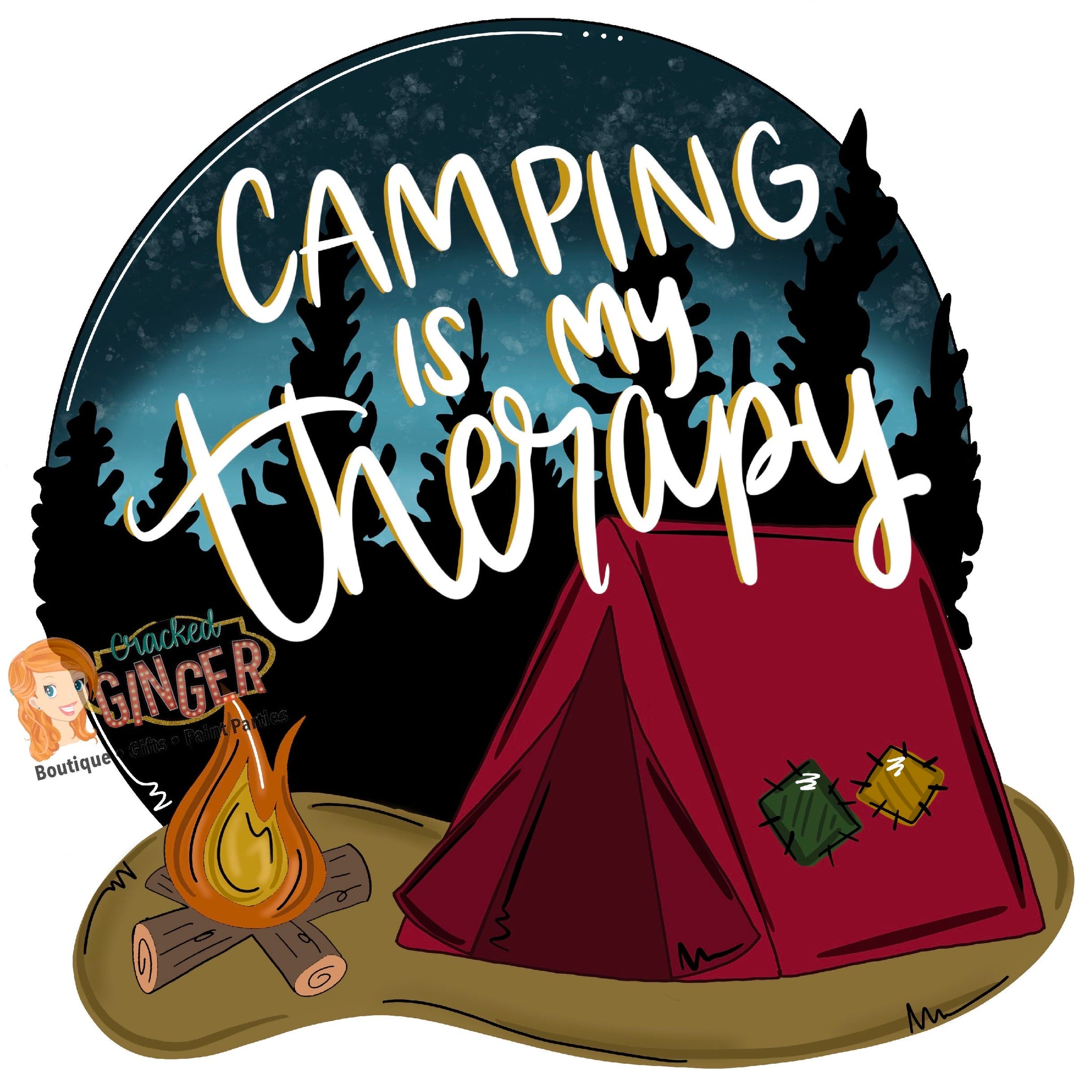 Camping is my therapy tent