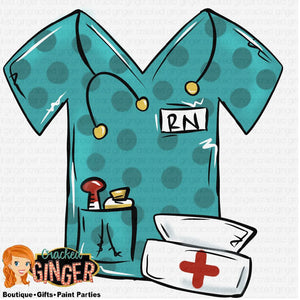 Nurse Scrub Top