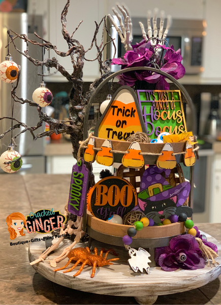 Halloween Themed Tiered Tray