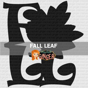 Fall Lettering Leaf Wood Cut-out Kit