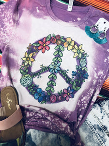 Floral Peace Tee