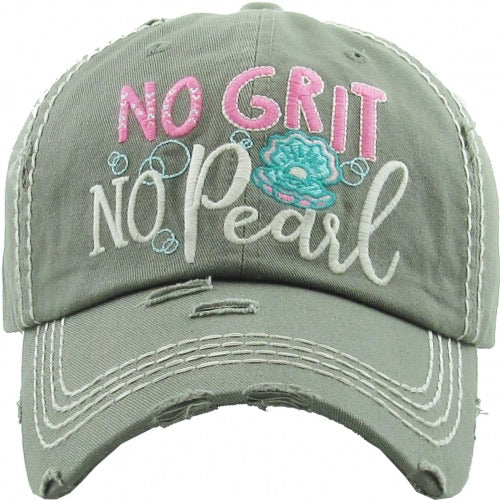 No Grit No Pearl Baseball Hat