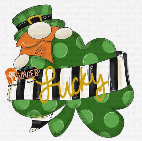 Leprechaun and Clover Cutout and Kits