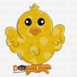 Easter Chick Template