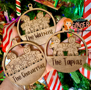 Gingerbread man family Ornament