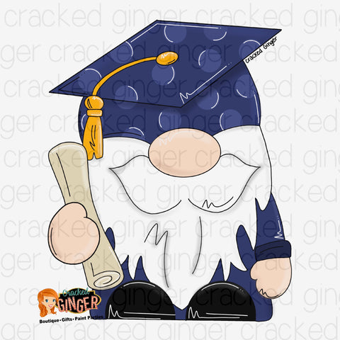 Graduate Gnome Cutout and Kits