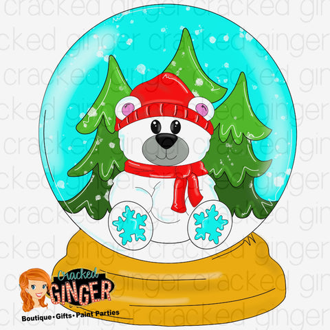 Polar Bear Snowglobe Cutout and Kits
