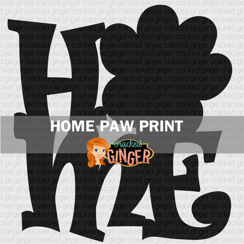Home with Paw Print Wood Cut Out Kit