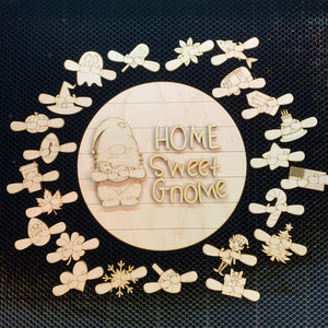 Home Sweet Gnome blank cutouts