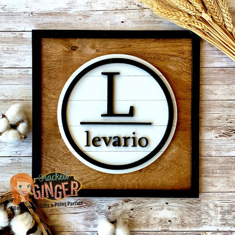 Modern Farmhouse last name sign