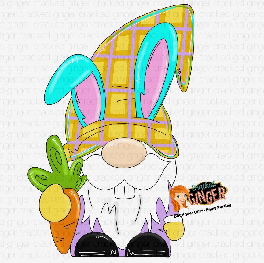 Easter Gnome Cutout and Kits