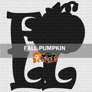 Fall Lettering Pumpkin Wood Cut-out Kit