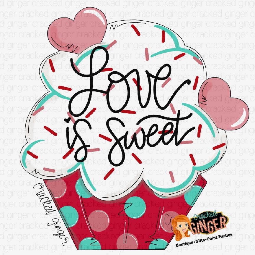 Love is Sweet Cupcake Cutout and Kits