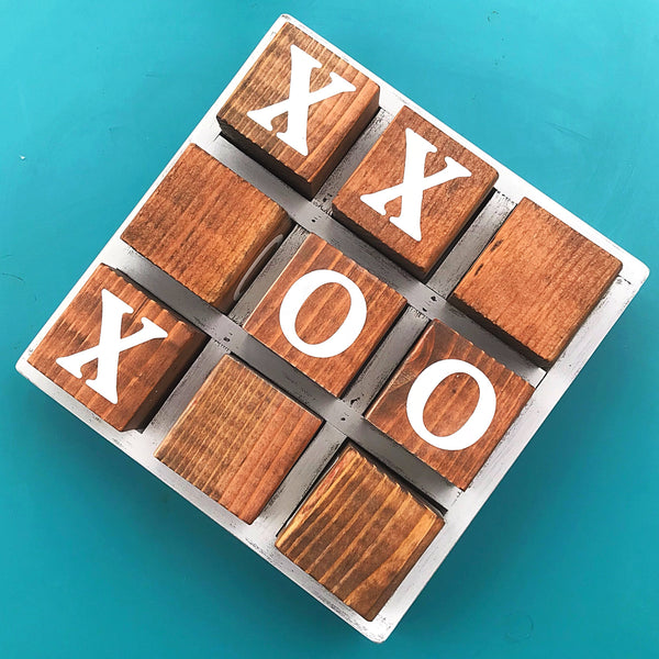 Wooden Tic-Tac-Toe Board