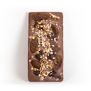 Milk Chocolate Fig & Hazelnut Date bar - The Date Parlour