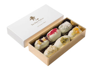 Small White Choc Dates - The Date Parlour