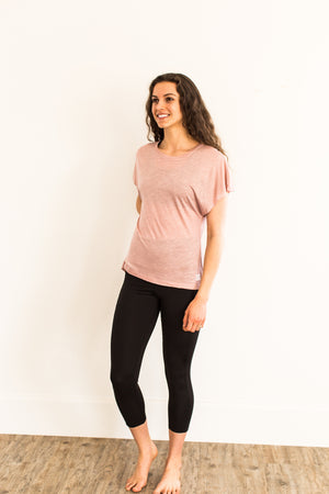 Slouchy Tee - Light Pink