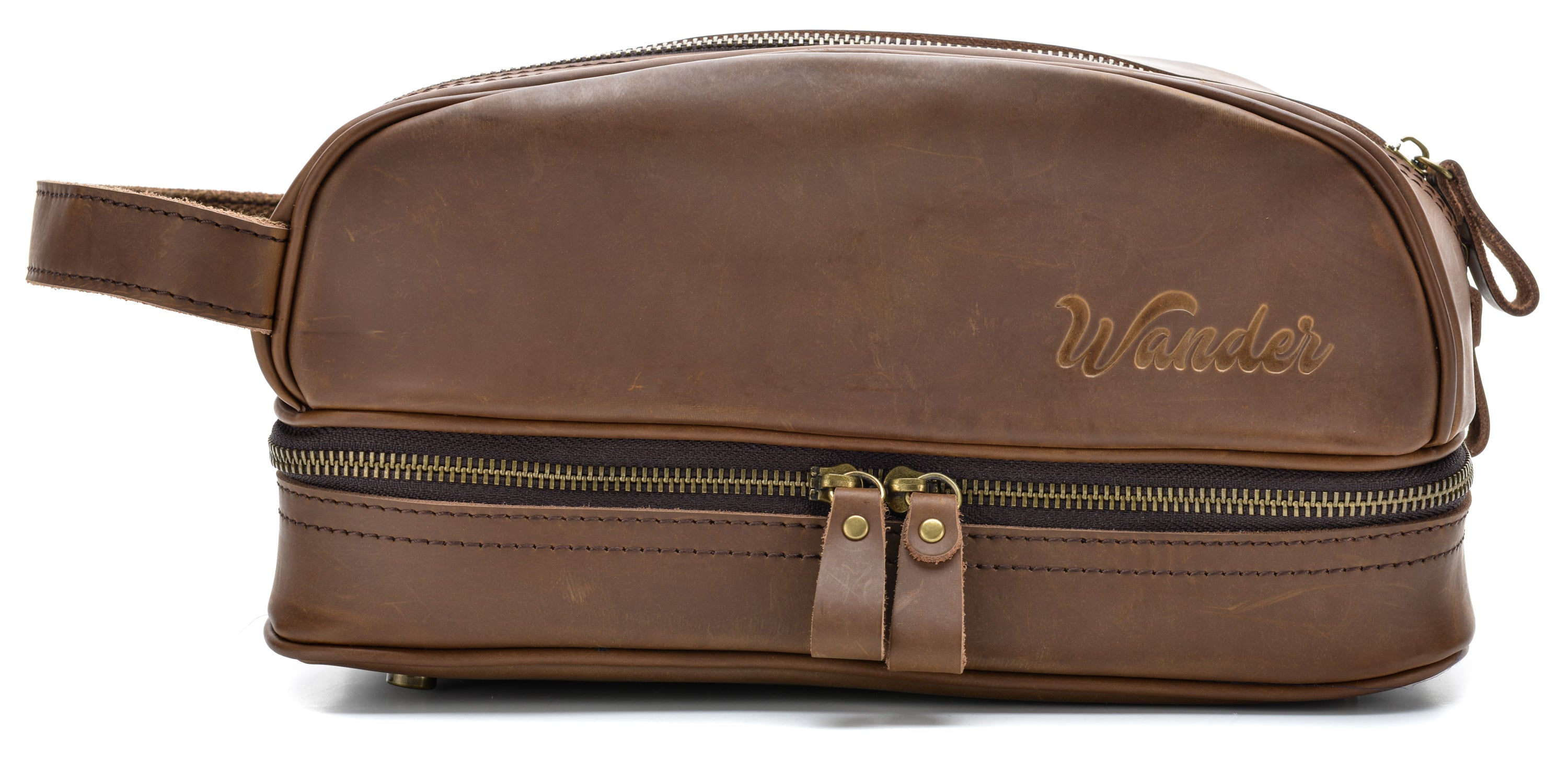 046621343c42 Brown Toiletry Bag colorway - Wander Travel and Supply