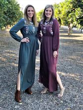 ASHLEY EMBROIDERED MAXI IN KALE