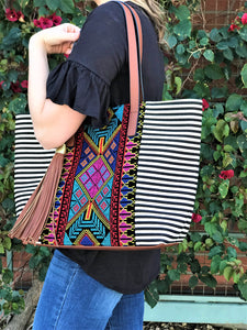 EVIE EMBROIDERED TOTE
