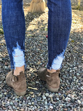 SNEAK PEEK DESTROYED ANKLE JEANS IN MEDIUM DENIM
