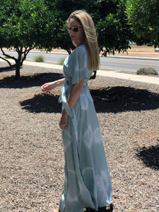 TIE DYE MAXI DRESS IN MINT