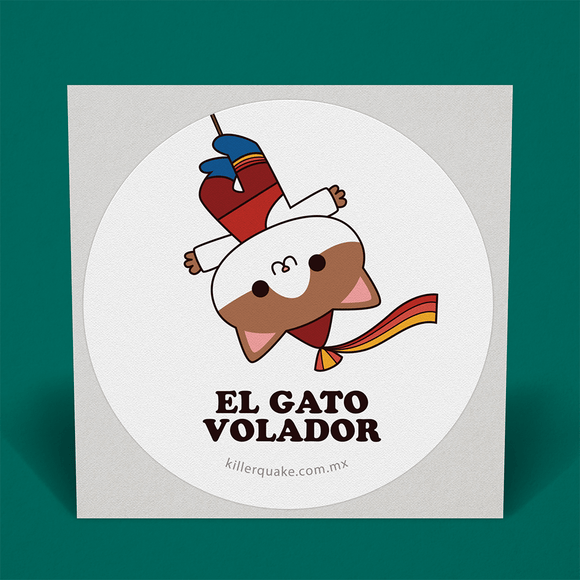 Sticker Gato Volador