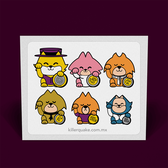 Sticker Gatos Neko