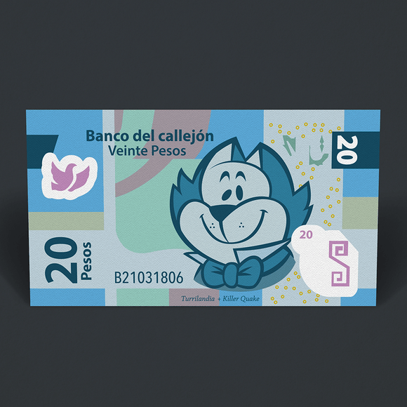 Sticker Benipeso de 20 - Killer Quake