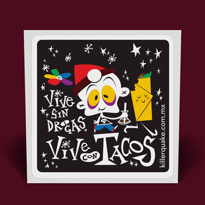 Sticker Vive con Tacos