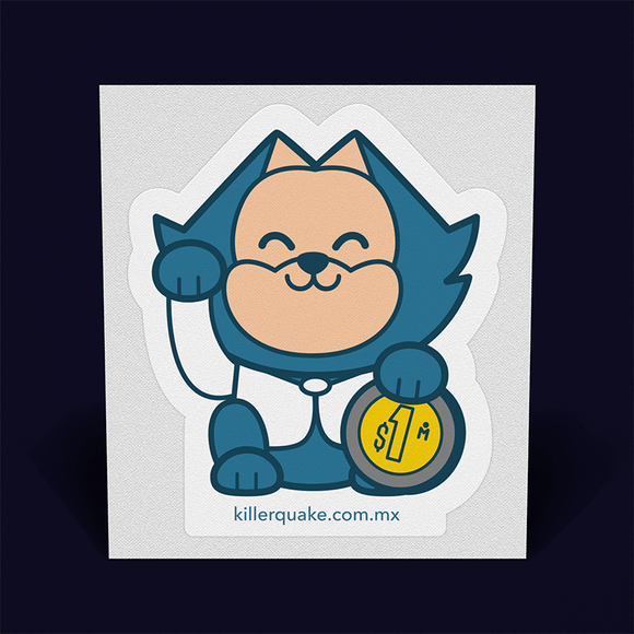 Sticker Beni Neko - Killer Quake