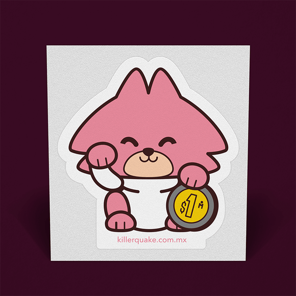 Sticker Cucho Neko - Killer Quake