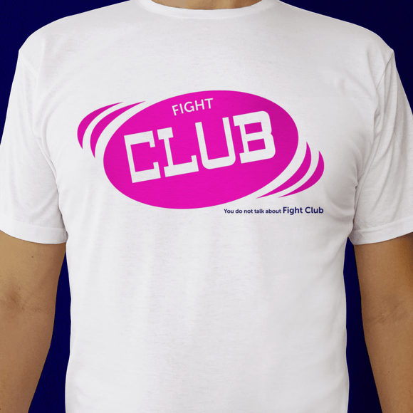 Playera UNISEX Fight Club (blanca)