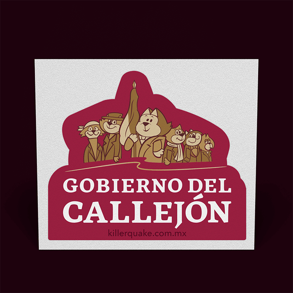Sticker Gobierno del callejón - Killer Quake