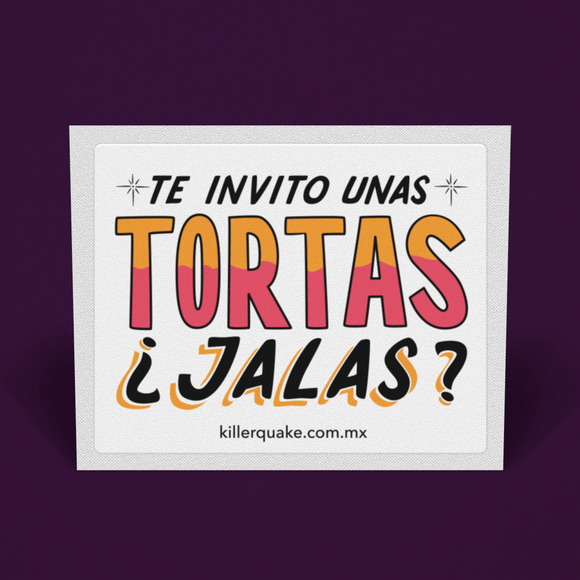 Sticker Tortas - Killer Quake