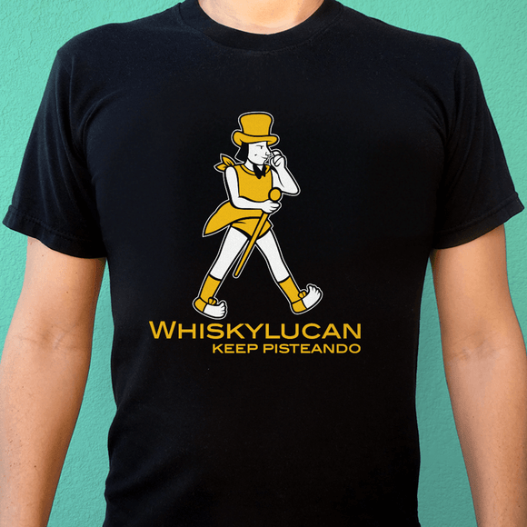 Playera UNISEX Whiskylucan (negra) - Killer Quake