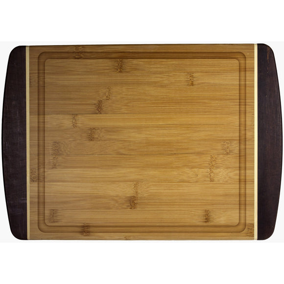 Bamboo Black Tips  Large Cutting Board