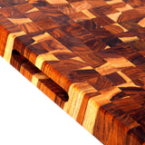 Teak Block with Checker Pattern and hand grips