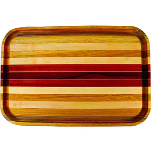 Acacia Rectangular Stripped Cutting Board-Large