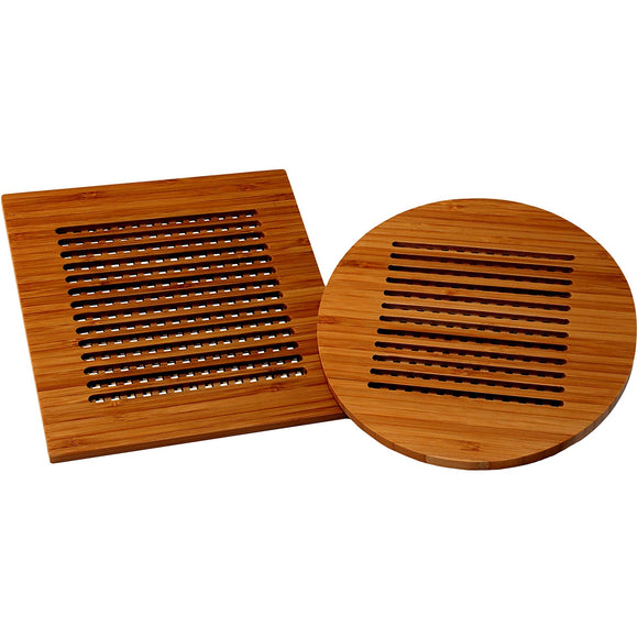 Bamboo Square and Round Trivits