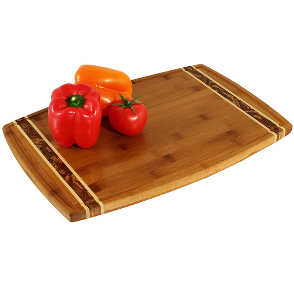 Bamboo Large Marbelized Cutting Board
