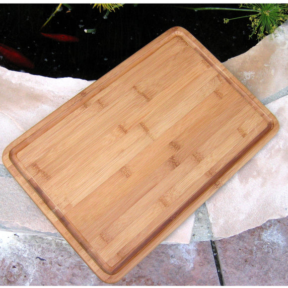 Bamboo Basic Rectangle Grooved Board