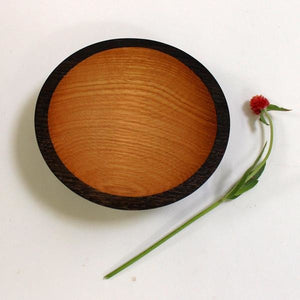 Holland Hardwood Ebonized Red Oak Bowl 7.5""