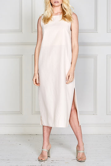 Iris Midi Shift Dress (Soft Pink)